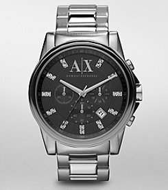 A|X Armani Exchange Men's Stainless Steel Glitz Markers Watch