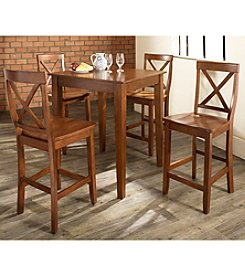 Crosley Furniture 5-pc. Pub Dining Set with Tapered Leg & X-Back Stools