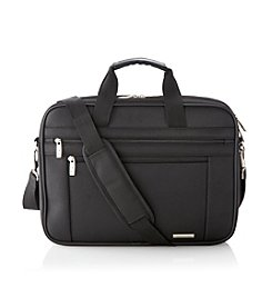 Samsonite® Leverage Two-Gusset Black Laptop Case