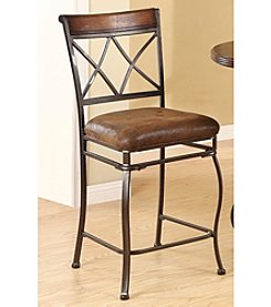 Acme Set of 2 Tavio Double Cross Counter Chairs