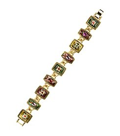 Napier® Multicolored Square Link Bracelet