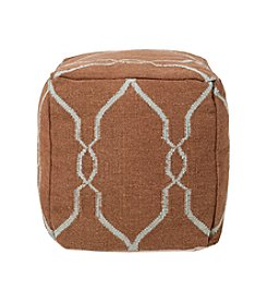 Chic Designs Square Mocha & Robin's Egg Blue Pouf