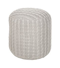 Chic Designs Tall Round Oyster Gray Pouf