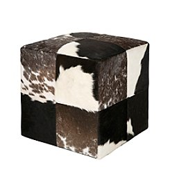Chic Designs Square Mutli-Patterned Pouf