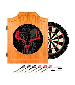 Trademark Global Hunt Skull Wooden Dart Cabinet Set