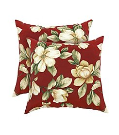 Greendale Home Fashions Set of Two Romma Floral Accent Pillows