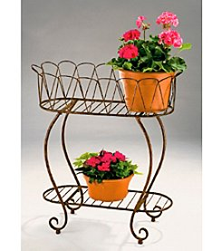 Arett Metal Oval Wave Planter