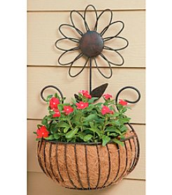 Arett Metal Daisy Wall Basket with Coco Liner