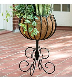 Arett Steel Patio Urn with Coco Liner