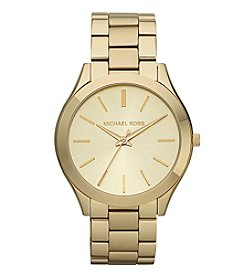 Michael Kors® Women's 41mm Stainless Steel Goldtone Slim Runway Watch