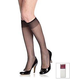 Hanes® Silky Sheer Reinforced Toe Knee Highs 2-Pack