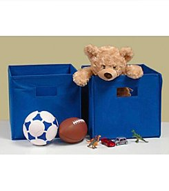 RiverRidge Kids Blue 2-pc. Folding Storage Bin Set
