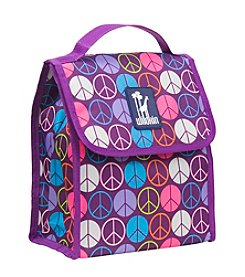Wildkin Purple Peace Sign Munch n' Lunch Bag