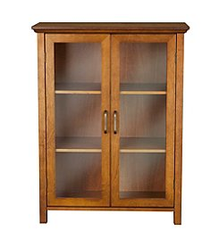 Elegant Home Fashions® Avery Oil Oak Two-Door Floor Cabinet