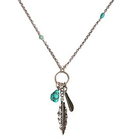 Lucky Brand® Feather Charm Necklace