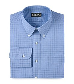 Lauren Ralph Lauren Men's Blue Plaid Broadcloth Dress Shirt