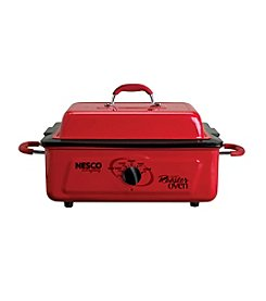 Nesco® 5-qt. Red  Roaster Oven with Self-Basting Cover & Porcelain Cookwell