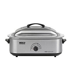 Nesco® 18-qt. Stainless Steel Roaster Oven with Stainless Steel Cookwell