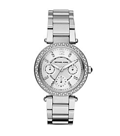 Michael Kors® Women's Silvertone Mini Parker Watch