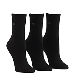 Calvin Klein 3-Pack Black Crew Socks