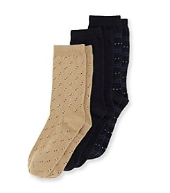 Statements Boys' 3-Pack Navy/Black/Khaki Dress Socks