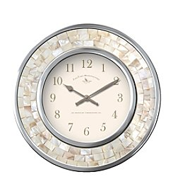 FirsTime White Pearl Mosaic Wall Clock