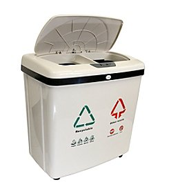 iTouchless® 16-gal. Dual-Compartment Touchless Recycle Bin/Trash Can