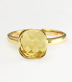 Effy® 14K Yellow Gold Lemon Quartz Ring