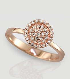 Effy® 14K Rose Gold Diamond Ring