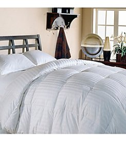 Blue Ridge Home Fashions Supreme Damask Stripe White Down Comforter