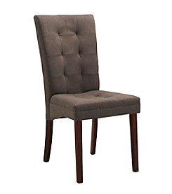 Baxton Studios Set of 2 Anne Brown Fabric Modern Dining Chairs