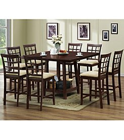 Baxton Studios Katelyn 7-pc. Modern Counter Height Dining Set