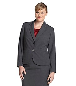Calvin Klein Plus Size Two Button Blazer