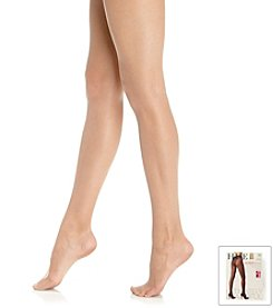 HUE® French Lace Panty Pantyhose with Control Top