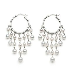 .925 Sterling Silver Fresh Water Pearl Earrings