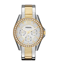 Fossil® Women's 40mm Riley Two-Tone Stainless Steel Watch
