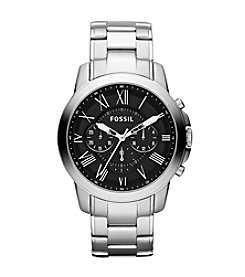 Fossil® Men's 44mm Grant Roman Stainless Steel Watch
