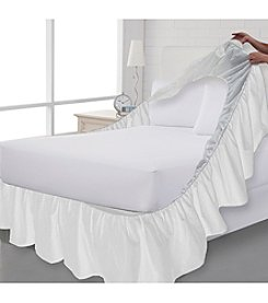 Perfect Fit® White Bedskirt and Boxspring Protector