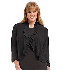 R&M Richards® Plus Size Ruffle Shrug