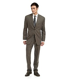 John Bartlett Statements Men's Brown/Grey Classic Fit Suit Separates