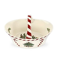 Spode® Christmas Tree Peppermint Handle Basket