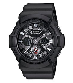 G-Shock Men's XL Black Analog-Digital Watch with Matte Black Band and Chrome Dial