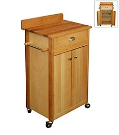 Catskill Craftsmen Butcher Block Cart with Backsplash