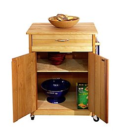 Catskill Craftsmen Butcher Block Cart with Flat Doors