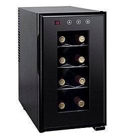 Sunpentown® Upright 8-Bottle Thermo-Electric Wine Cooler with Heat