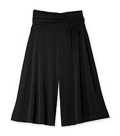 Amy Byer Girls' 10.5 Plus-12.5 Plus Black Gaucho Pants