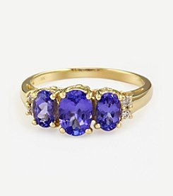 Effy® Tanzanite Royale Collection Tanzanite And .08 Ct. T.W. Diamond Ring
