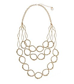 Erica Lyons® Goldtone Three Row Links Mid-Necklace