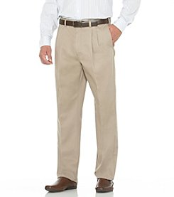 Savane® Men's Big & Tall Straight-Fit Pleated Performance Chino Pants