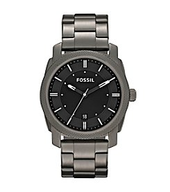 Fossil® Men's 42mm Machine Smoke IP Stainless Steel Dress Watch